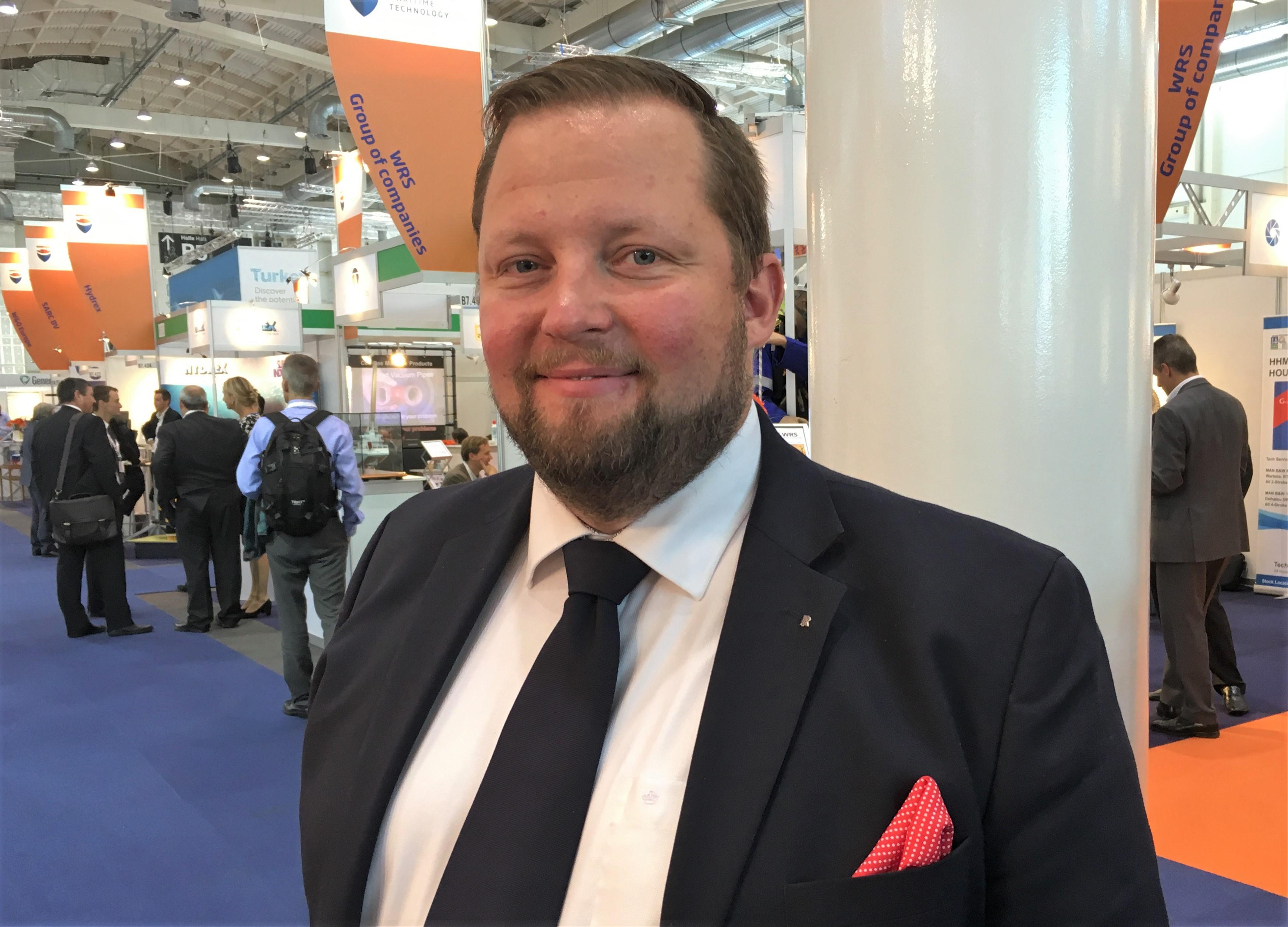 Rolls-Roycen Iiro Lindborg SMM-messut